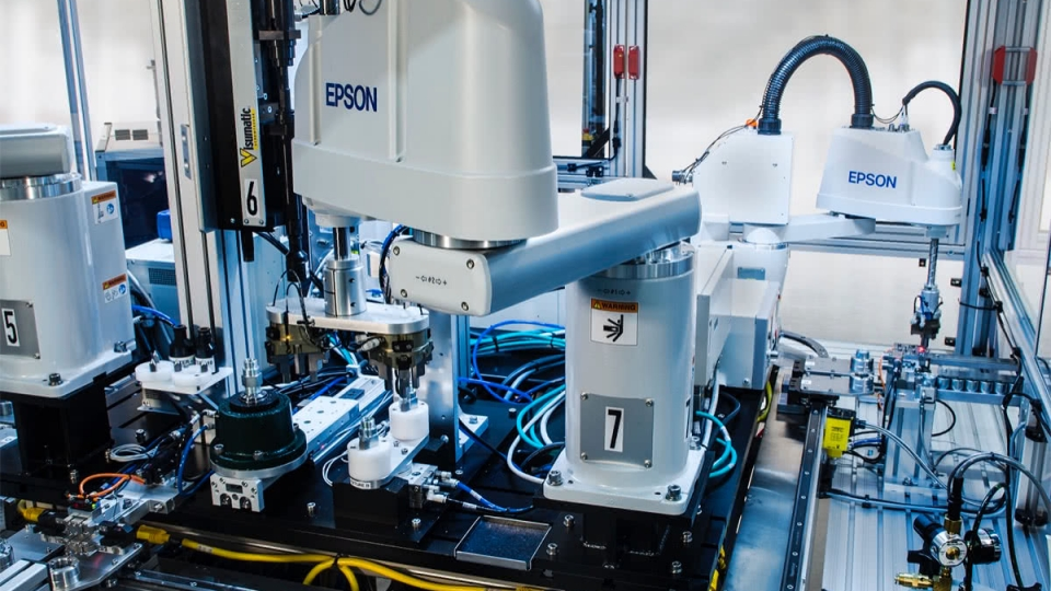 Epson SCARA's on Modular Assembly Platform