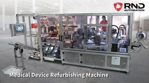 RND Automation's Medical Device Refurbishing Machine