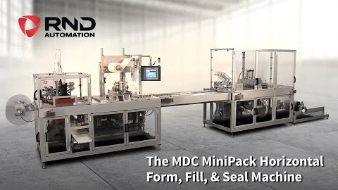 RND Automation's MDC MiniPack XL (Extended Loading) Horizontal Form, Fill, & Seal Machine