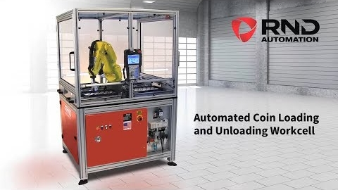 RND Automation's Coin Loading and Unloading Workcell