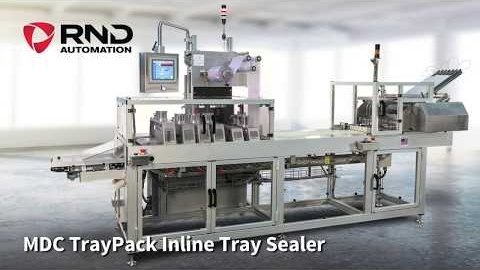 RND Automation's MDC TrayPack Inline Tray Sealer